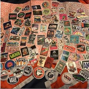 50 set Vans shoes stickers warped skateboard
